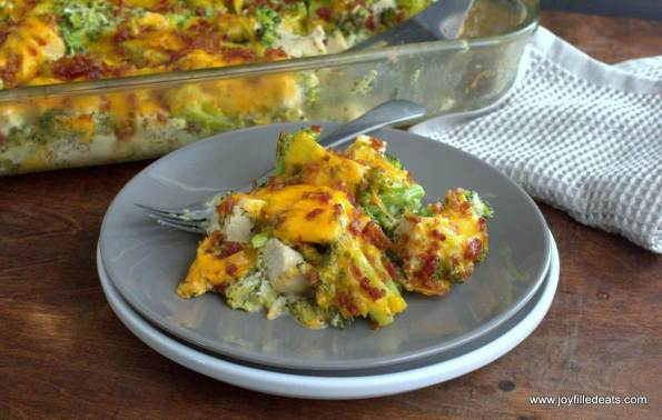 1. Chicken Bacon Ranch Casserole Low Carb Ketogenic