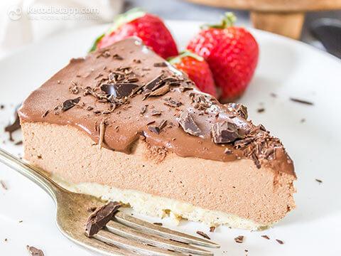 12. Low Carb Keto Raw Chocolate Cheescake