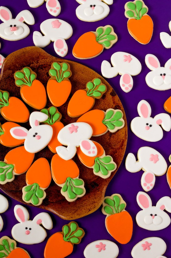 13. Easter Decorated Bunny Cookies