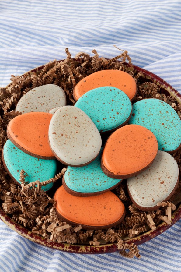 14. Decorated Easter Speckled Egg Cookies