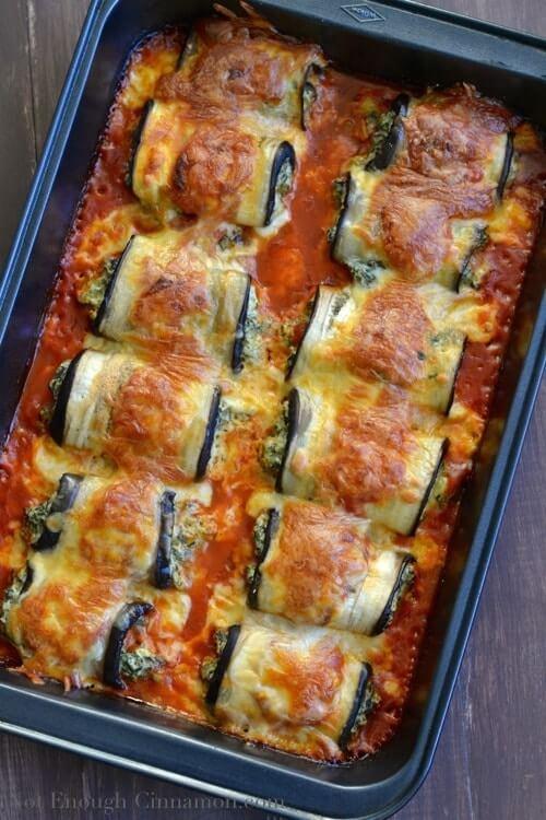 19. Skinny Eggplant Rollatini Keto Low Carb