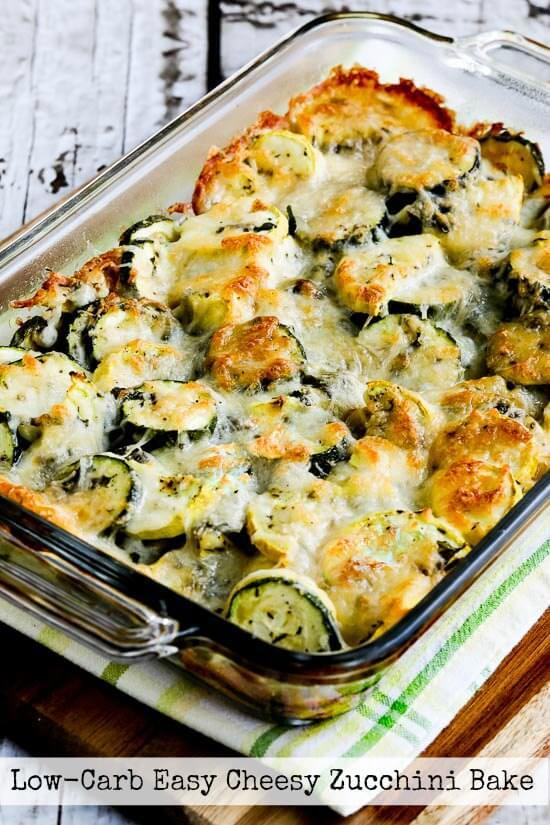 20. Low Carb Keto Easy Cheesy Zucchini Bake