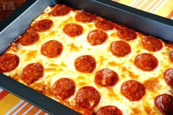 6. Low Carb Pizza Casserole – Gluten Free & Keto