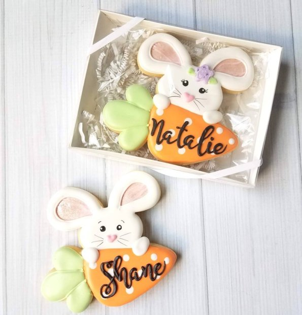 7. Personalised Decorated Easter Cookie Gift