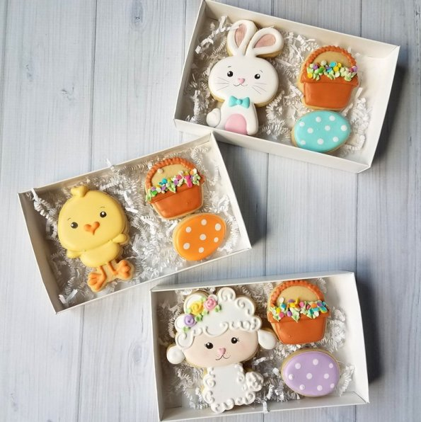 8. Decorated Easter Cookie Gift Box