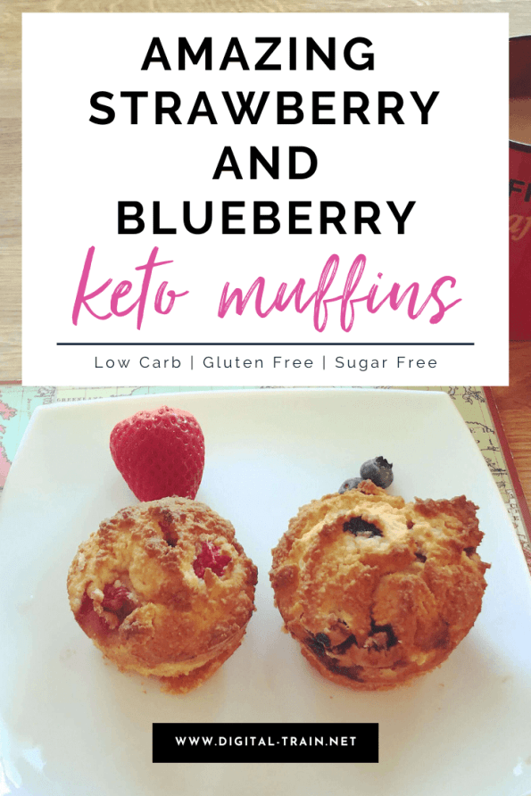 Strawberry And Blueberry Muffins Digital Train 2
