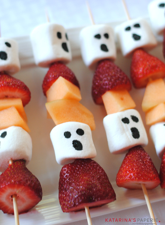 4. Ghost Fruit Kabobs Easy Hallowen Food Ideas Digital Train