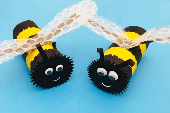 11. Toilet Paper Roll Bees