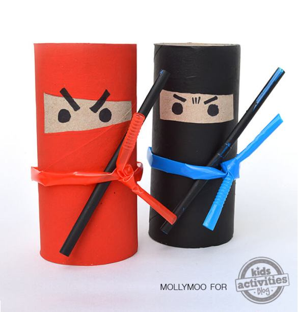 18. How To Make Toilet Roll Ninjas