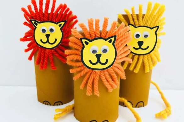 2. Paper Roll Lions