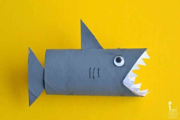 6. Shark Toilet Paper Roll Craft