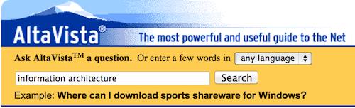 AltaVista Search Engine History Lesson For Internet Nerds - Digital.com