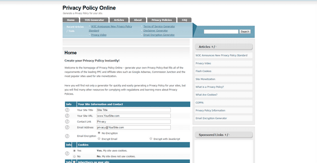 Quick  Easy Privacy Policies The 12 Bigger Generators Ranked  Digitalcom