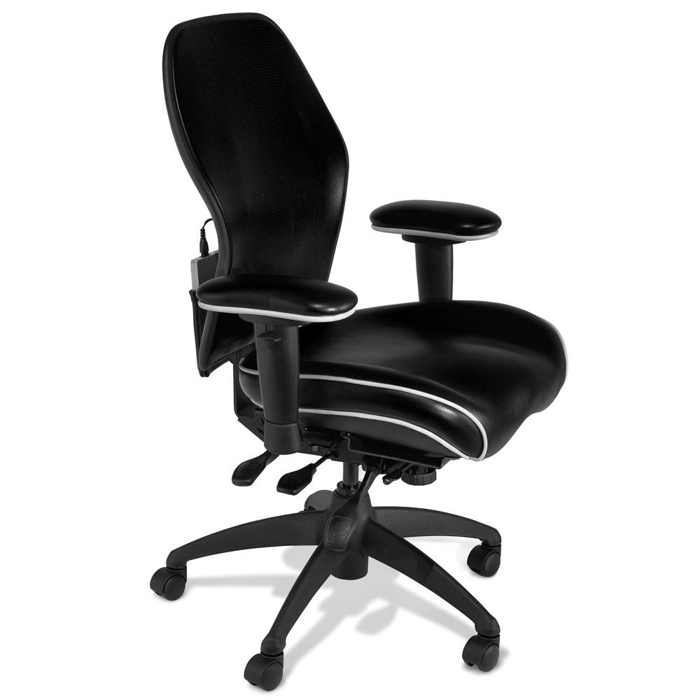 The Heated Lumbar Office Chair  Hammacher Schlemmer