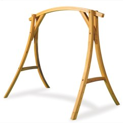 Gateleg Table With Chairs Wicker Indoor The Arched Cypress Swing Stand - Hammacher Schlemmer