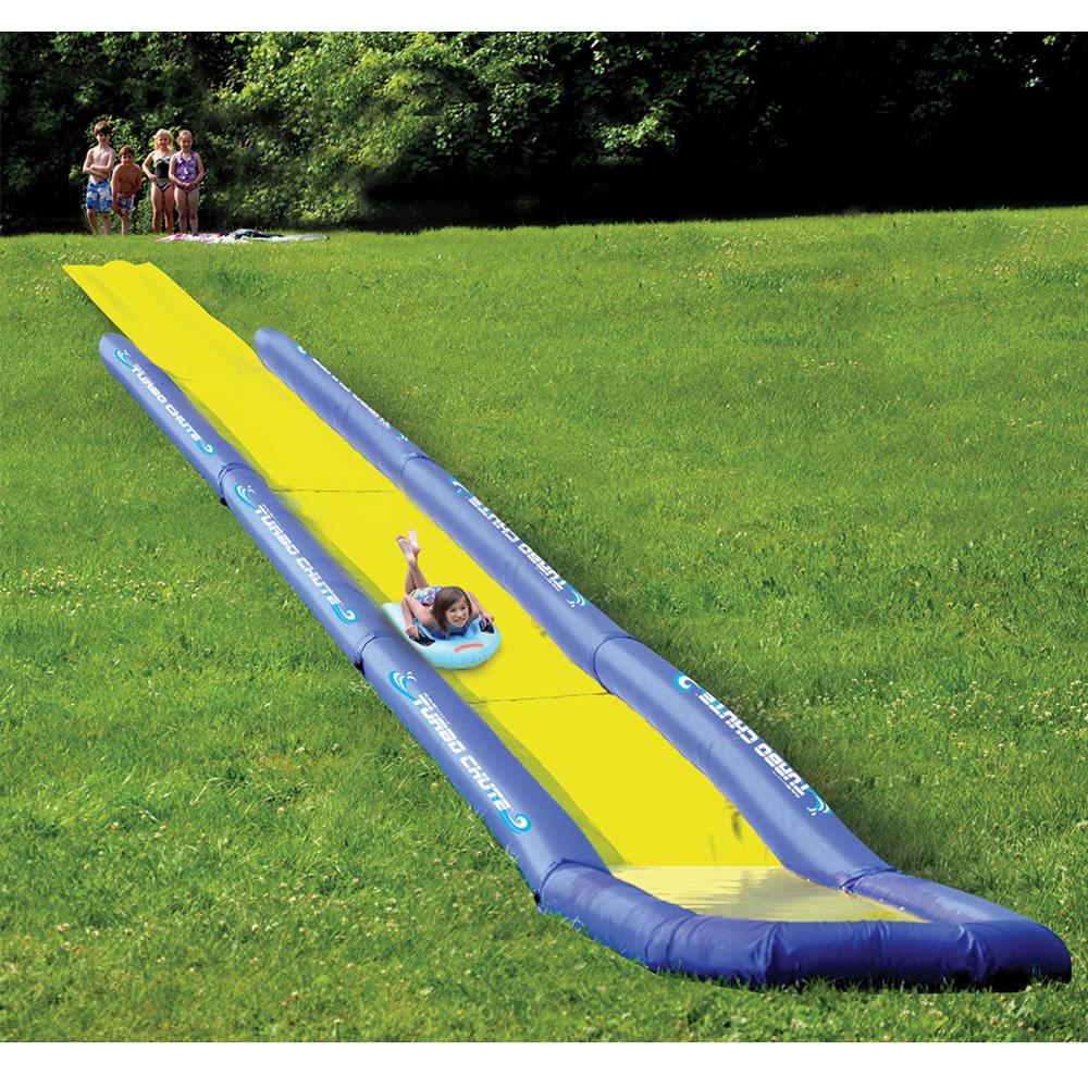 The World's Longest Backyard Water Slide  Hammacher Schlemmer