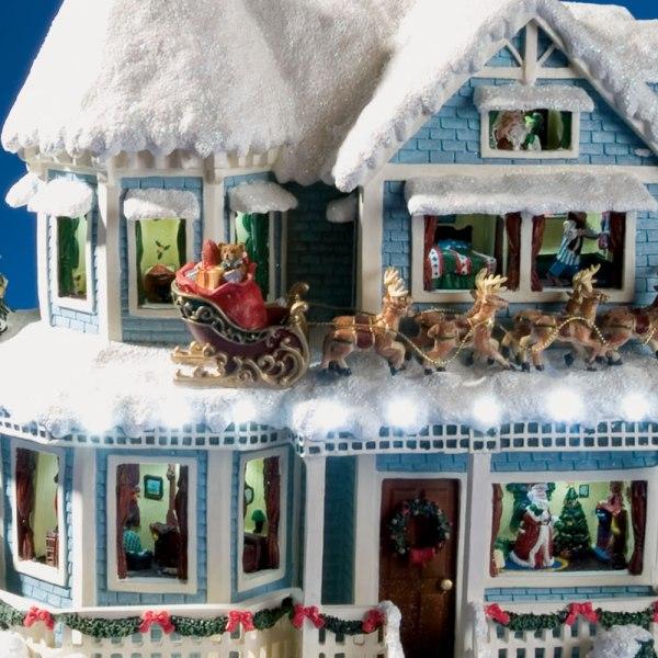 Thomas Kinkade the Night Before Christmas Talking House