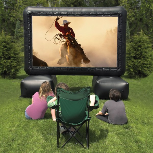 12 Foot Inflatable Screen Outdoor Home Theater System - Hammacher Schlemmer