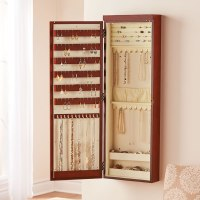 "The 45"" Wall Mounted Lighted Jewelry Armoire"