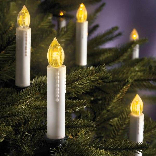 Cordless Christmas Tree Candles - Hammacher Schlemmer