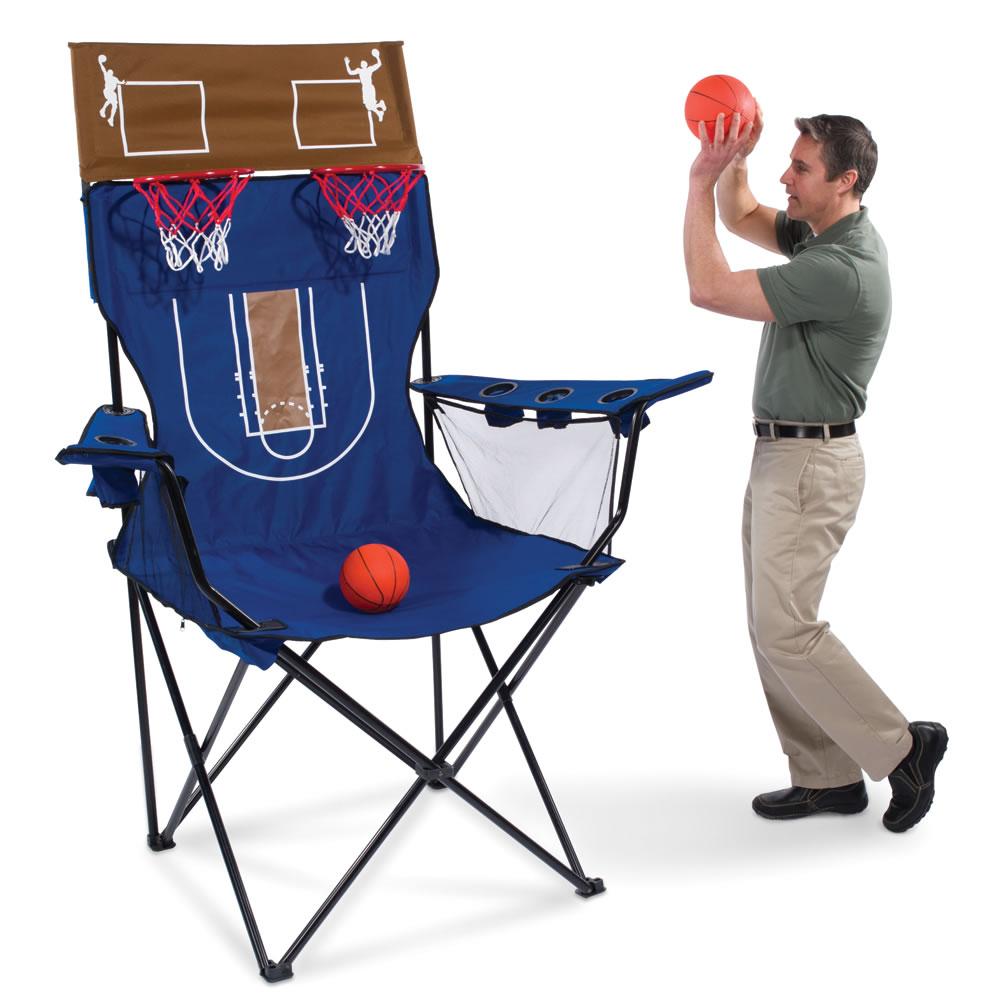 The Brobdingnagian Basketball Chair  Hammacher Schlemmer