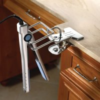The Hot Iron And Hair Dryer Holder - Hammacher Schlemmer