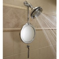 The Telescoping Fogless Shower Mirror - Hammacher Schlemmer