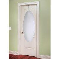 The Shatterproof Over The Door Mirror - Hammacher Schlemmer