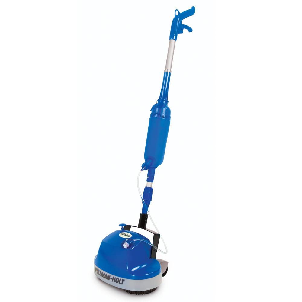 The Hard Floor Scrubber With Spray Applicator  Hammacher