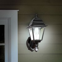 The Cordless Motion Activated Outdoor Sconce - Hammacher ...