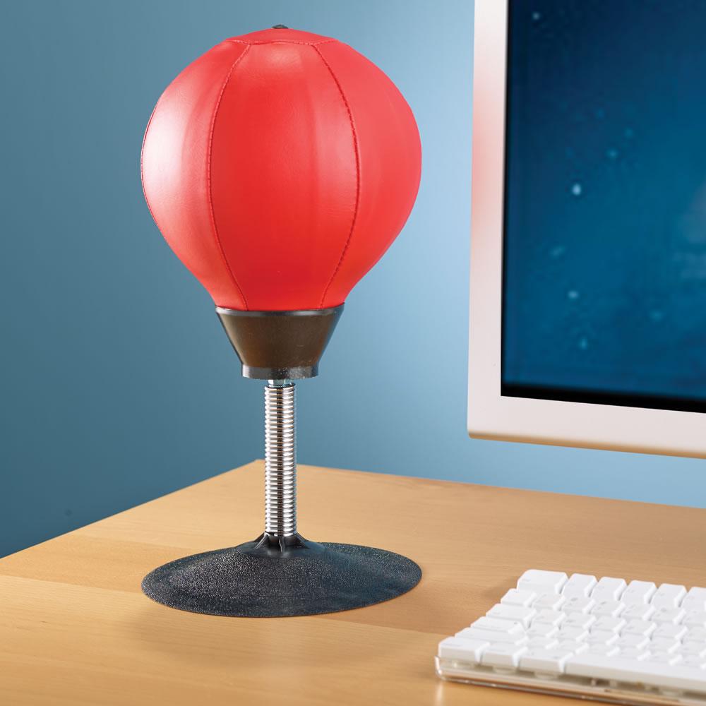 The Desktop Punching Bag Hammacher Schlemmer
