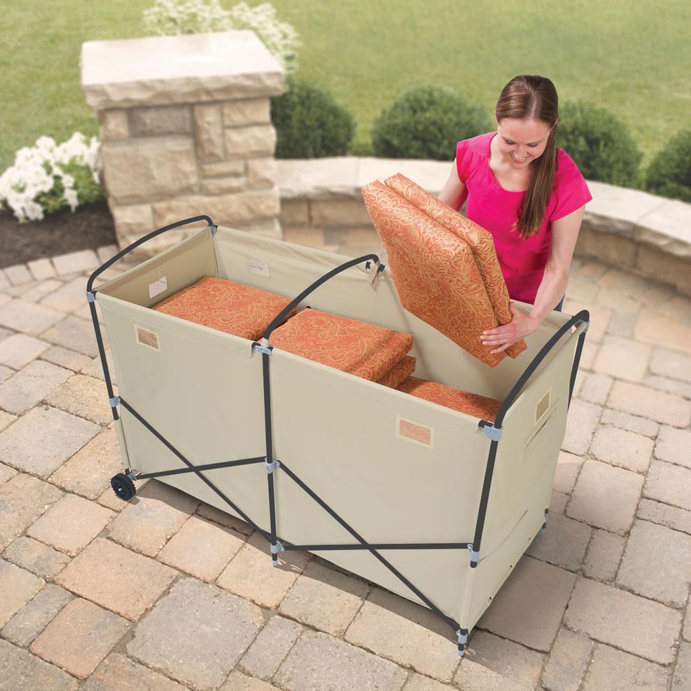 the foldaway patio cushion bin