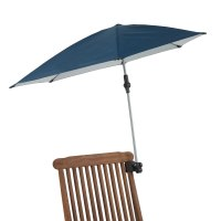 Clamp on chair umbrella