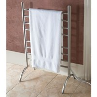 The Best Freestanding Heated Towel Rack - Hammacher Schlemmer
