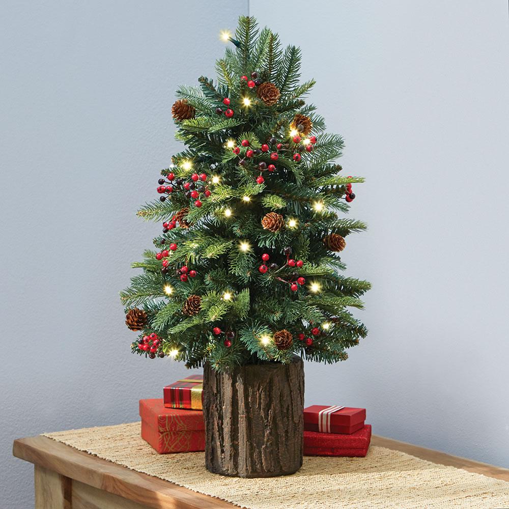 the tabletop prelit christmas