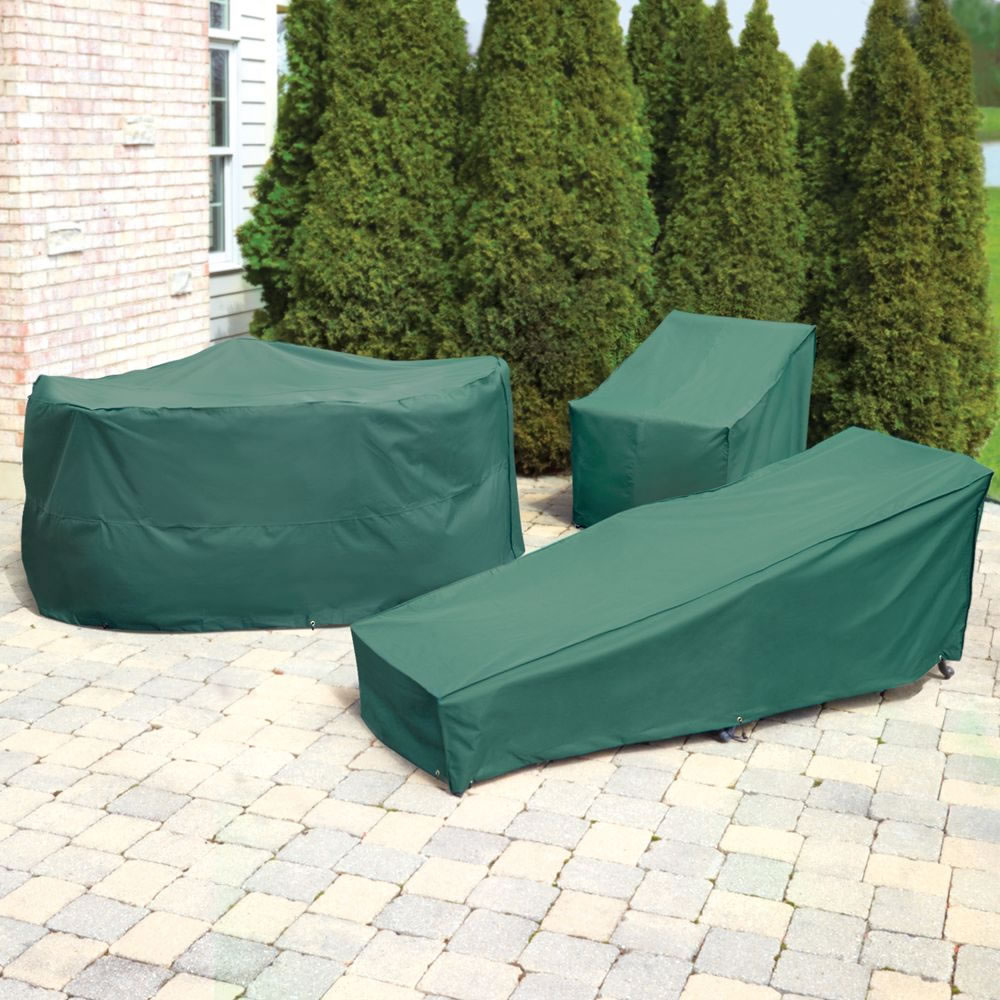 The Better Outdoor Furniture Covers Chaise Lounge Cover  Hammacher Schlemmer