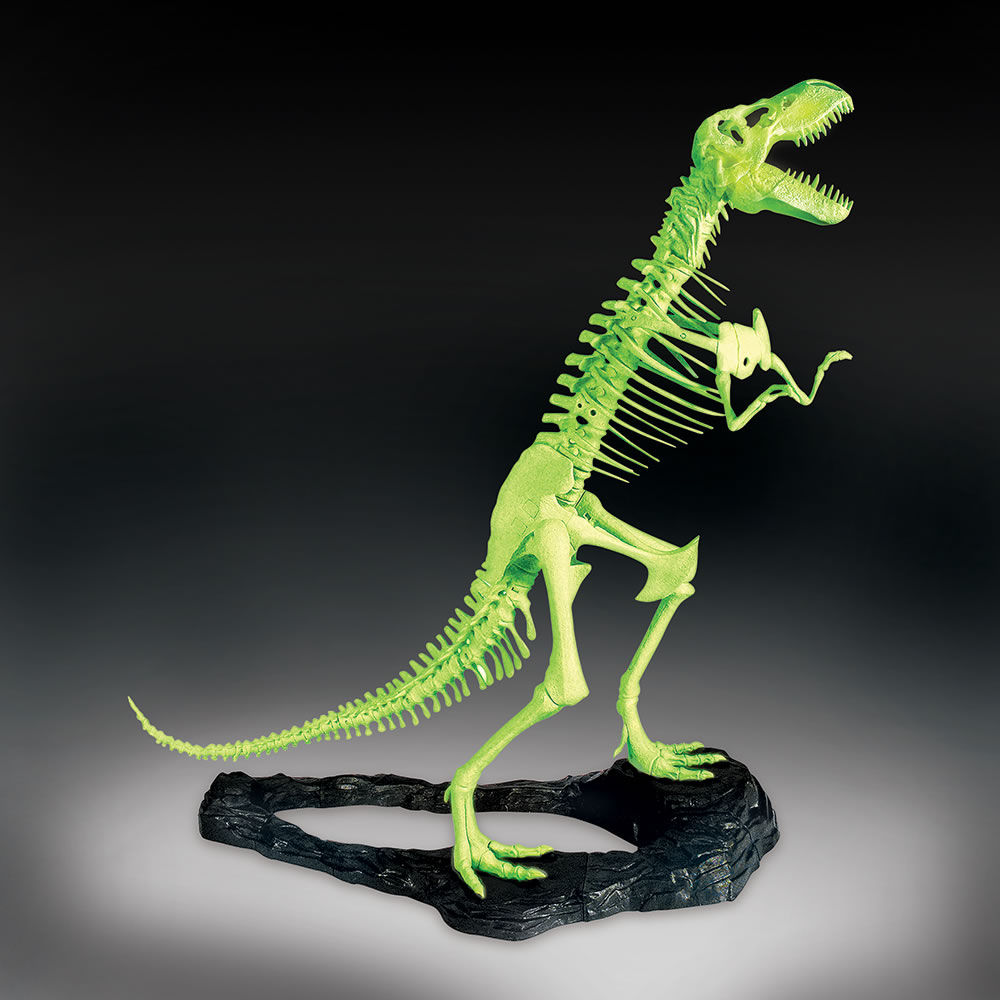 outdoor stackable chairs canada one piece rocking chair cushions the glow in dark t-rex model kit - hammacher schlemmer
