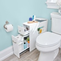 The Tight Space Bathroom Organizer - Hammacher Schlemmer