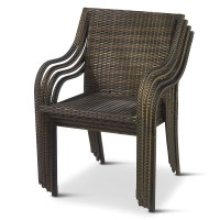 The Stackable Outdoor Wicker Chairs - Hammacher Schlemmer