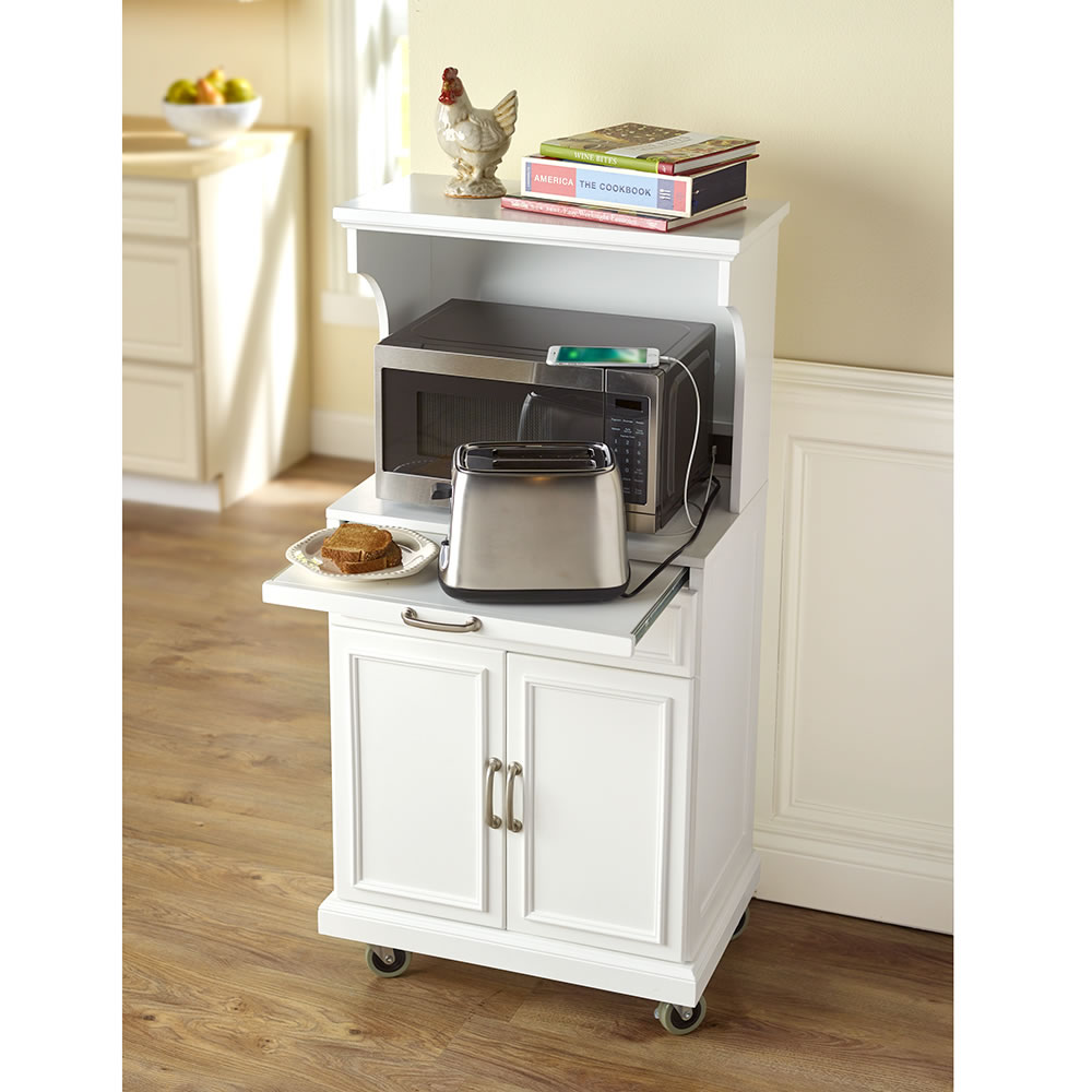 microwave stand with storage sample