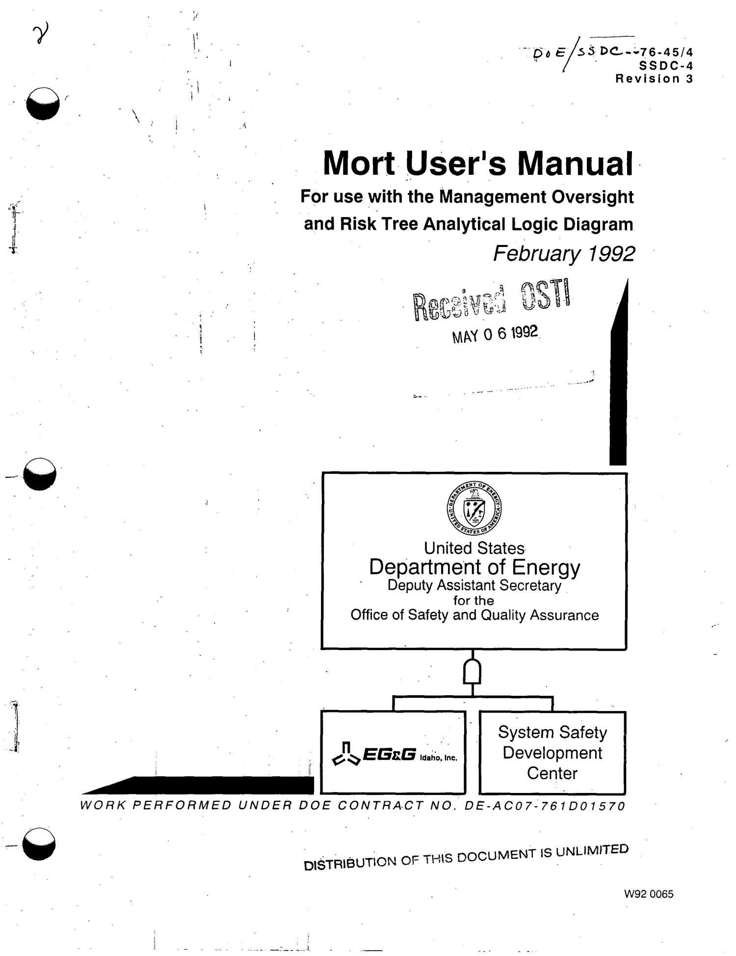 hight resolution of mort user s manual for use with the management oversight and risk tree analytical logic diagram digital library