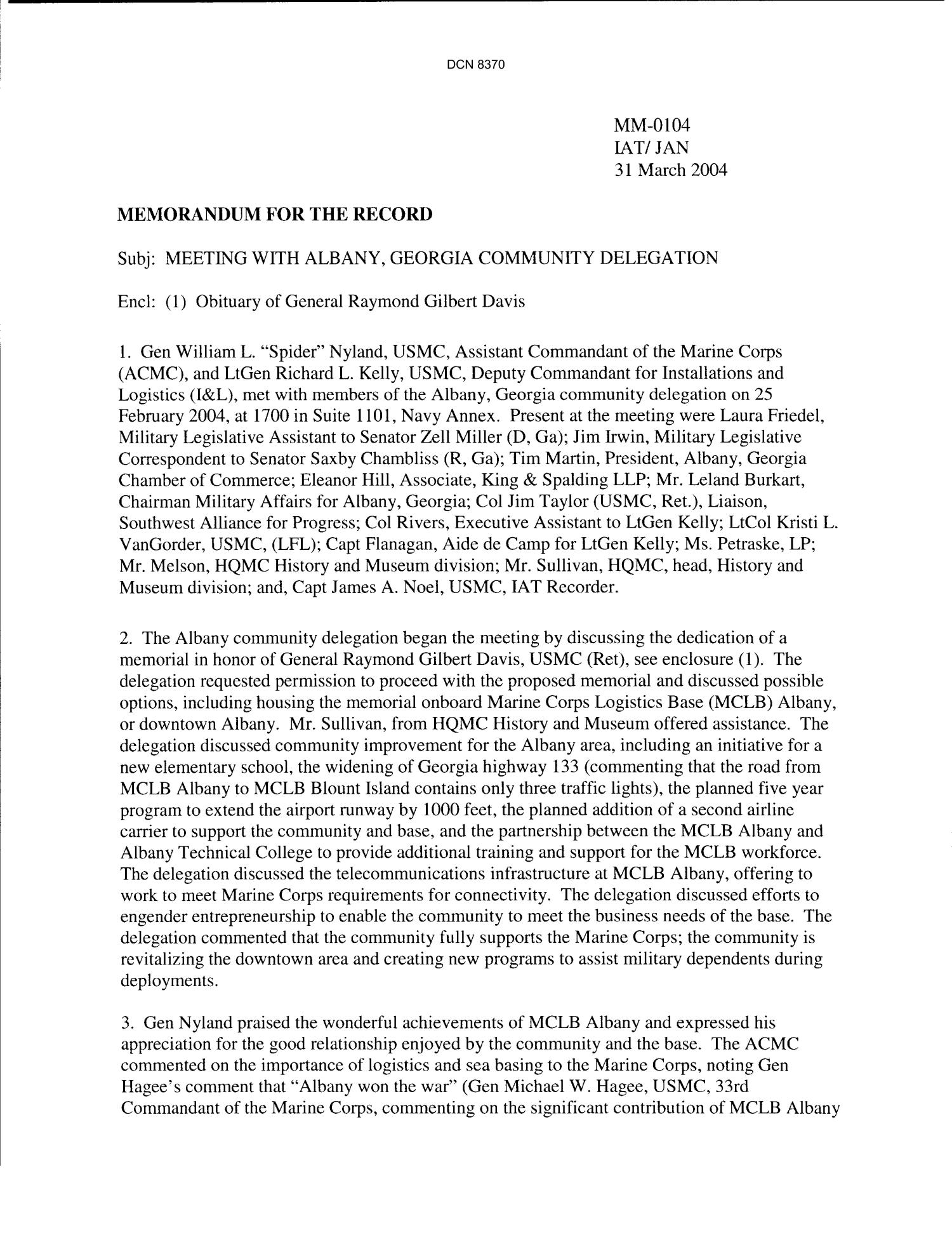 Department Of The Navy Memorandum For The Record Infrastructure