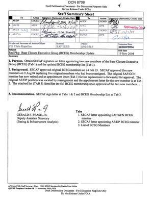 Memorandum dtd 12/13/04 from Secretary of the Air Force