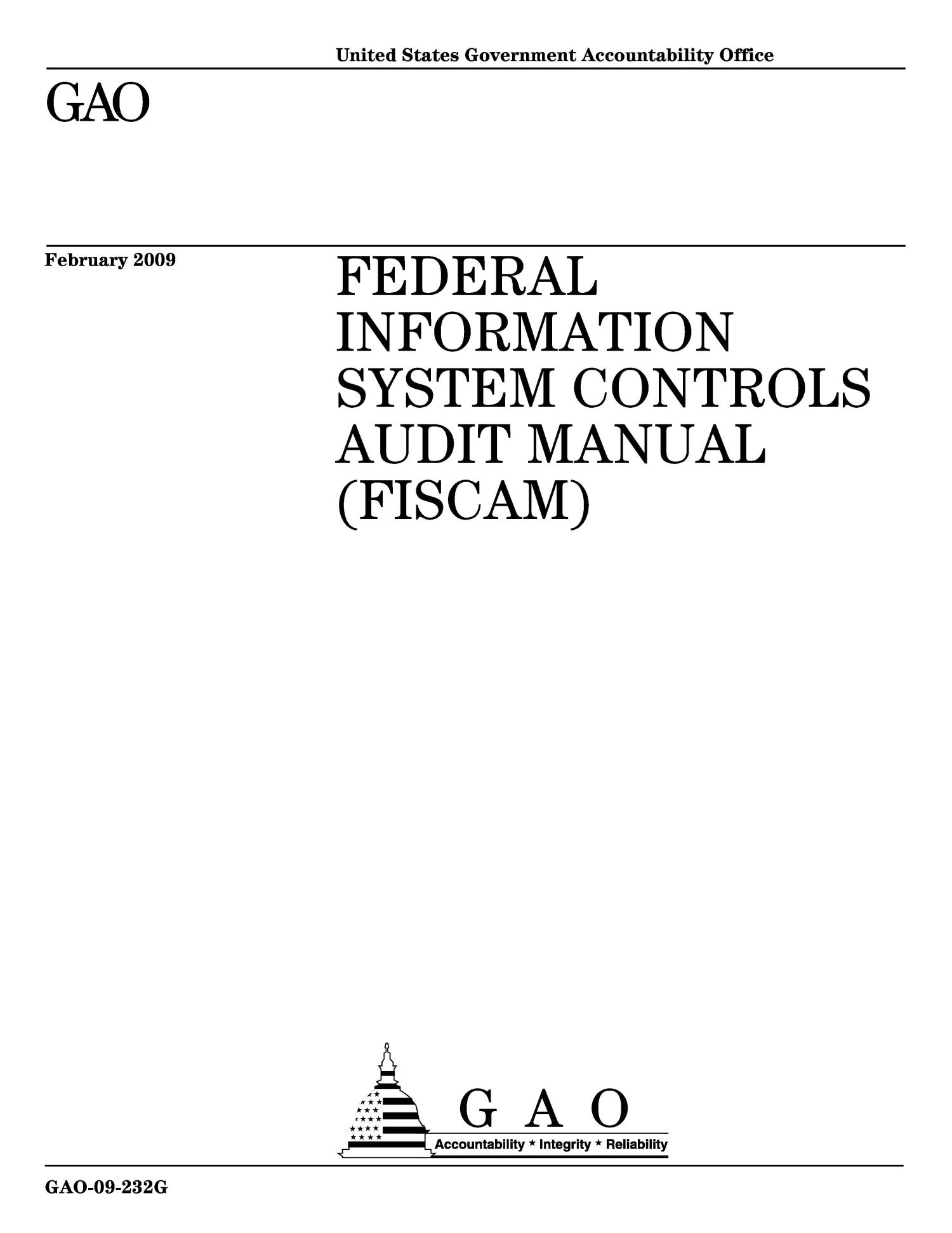 Federal Information System Controls Audit Manual (FISCAM