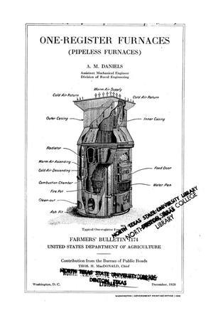 One-register furnaces: pipeless furnaces. : UNT Digital