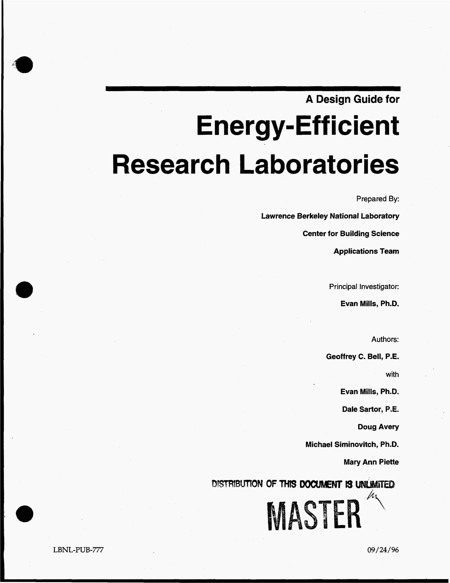 A design guide for energy-efficient research laboratories