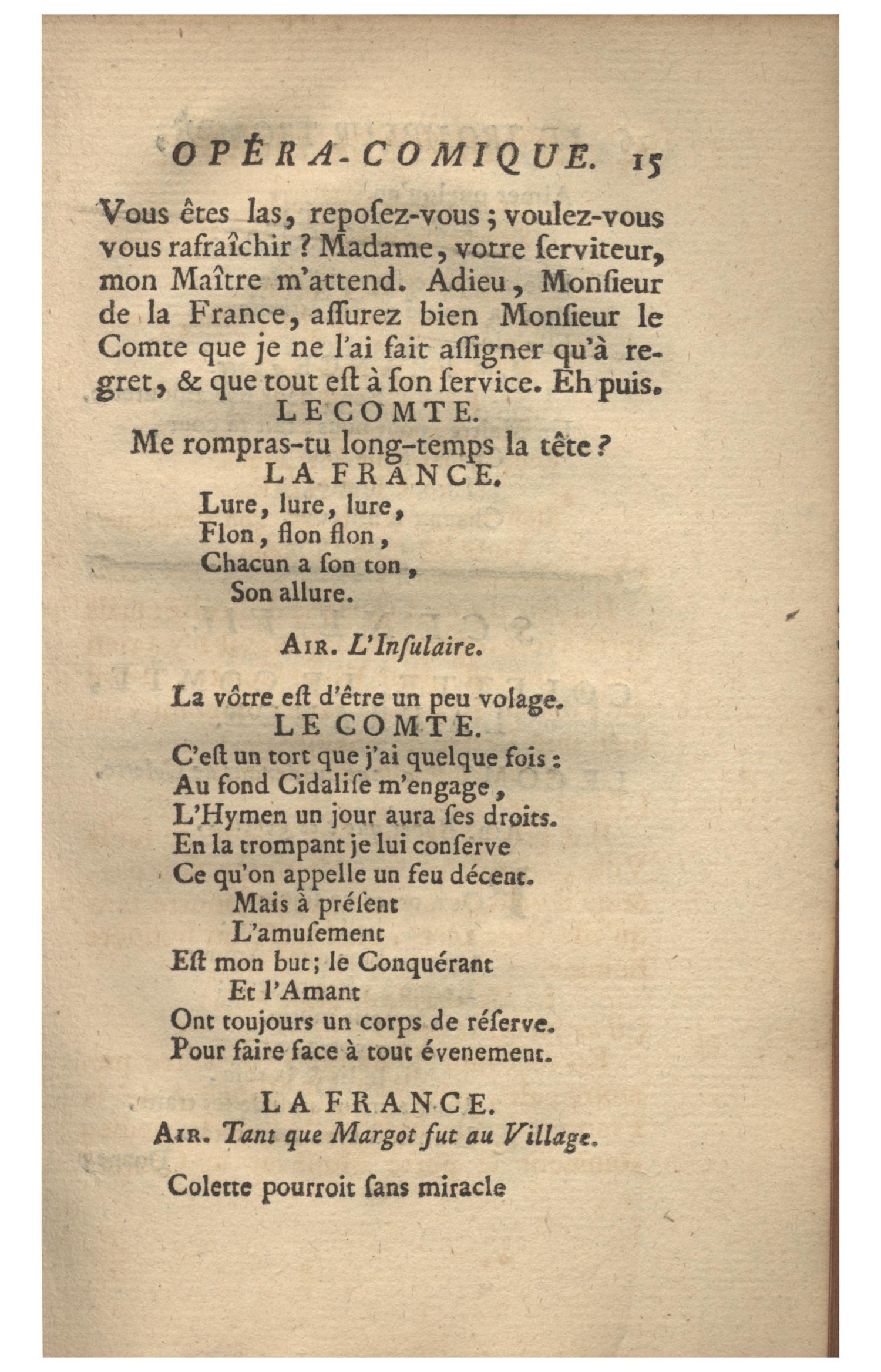 En Temps Ou En Tant : temps, Trompeur, Trompe,, Rencontre, Imprevue., Opera-comique, Acte., Represente, Premiere, Theatre, Foire, Germain,, Fevrier, 1754., Digital, Library