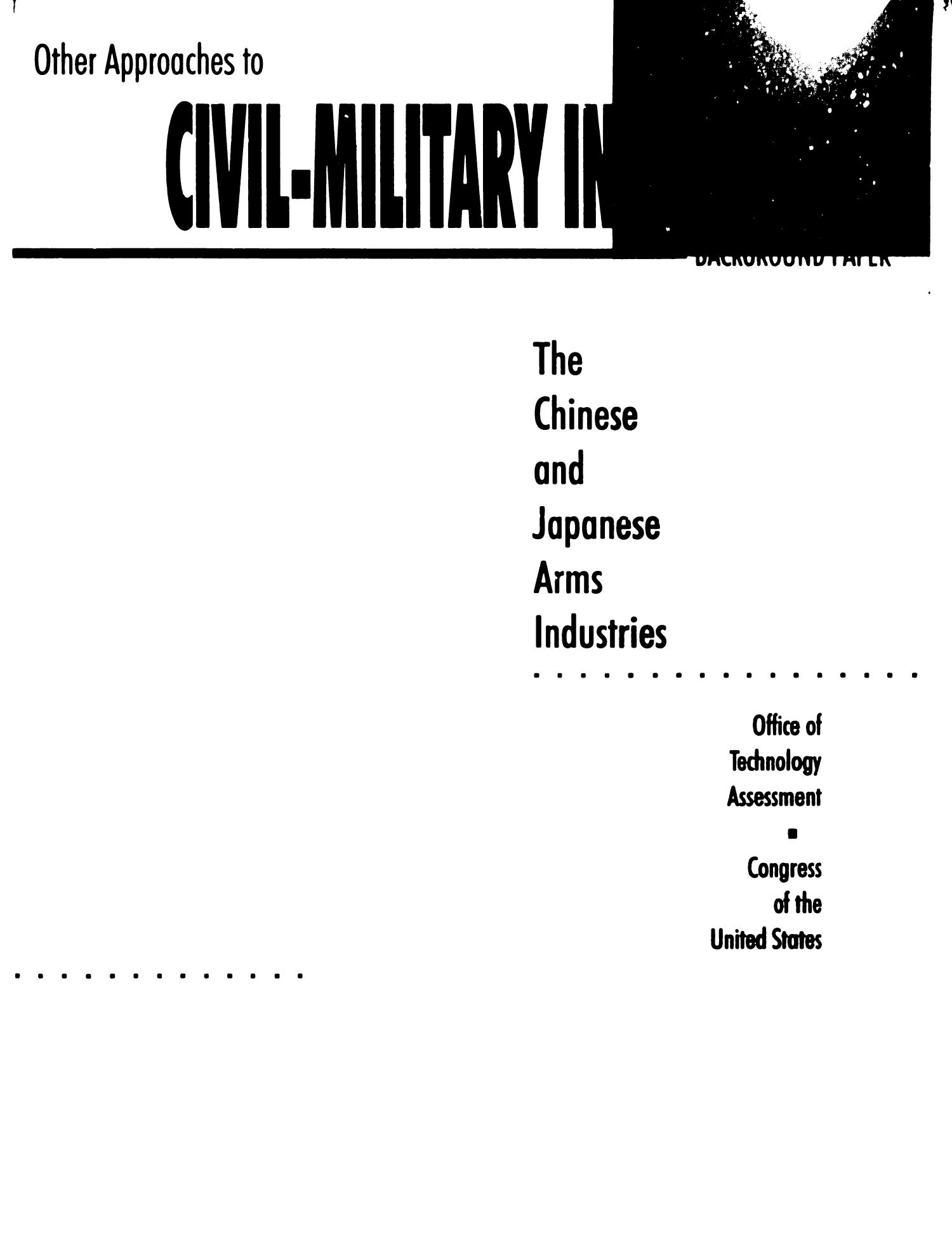 Other approaches to civil-military integration: background
