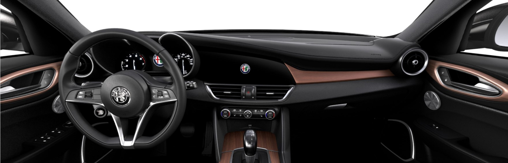 hight resolution of 2017 alfa romeo giulia lusso leather and wood interior