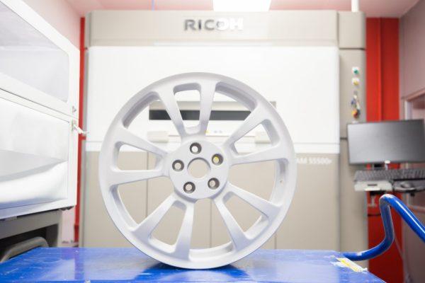 Prototipo de llanta de coche realizada en nuestro Ricoh Additive Manufacturing Centre de Barcelona